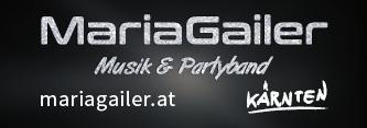 Webbanner 333 x 117 Pixel, Maria Gailer | Live - Musik & Partyband, Hochzeitsband, Rock & Pop