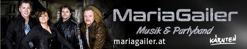 Webbanner 500 x 100 Pixel, Maria Gailer | Live - Musik & Partyband, Hochzeitsband, Rock & Pop