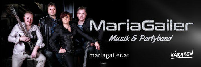 Webbanner 1370 x 456 Pixel, Maria Gailer | Live - Musik & Partyband, Hochzeitsband, Rock & Pop